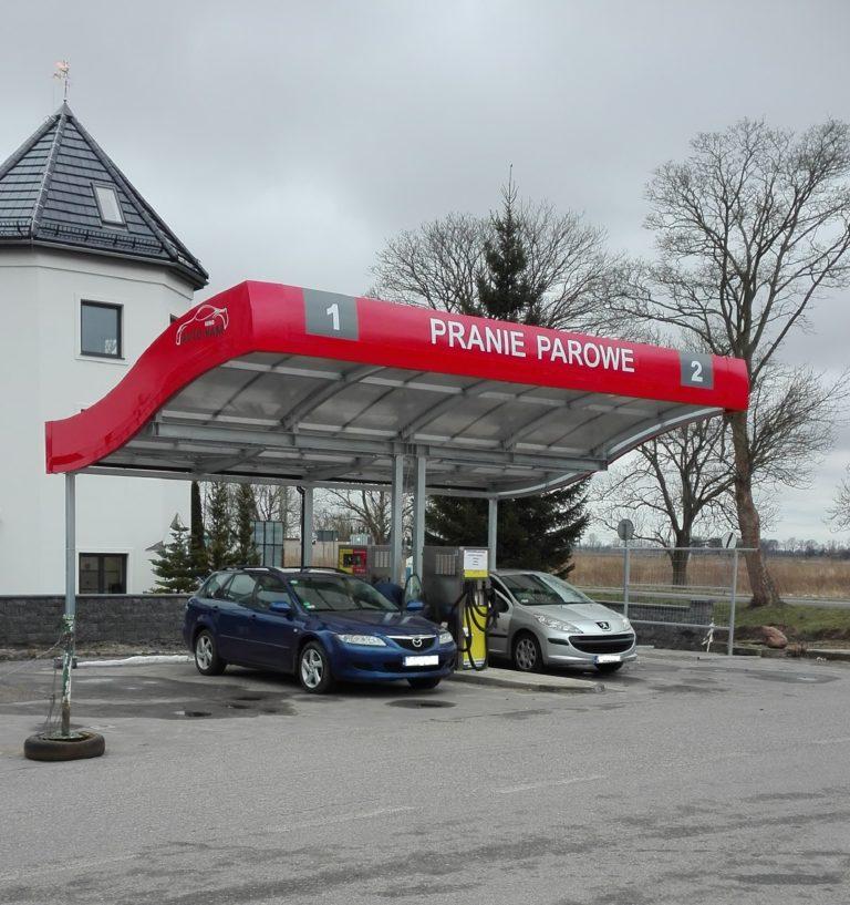Dwustanowiskowe samoobsługowe pranie parowe w Kamieniu Pomorskim